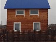 Иркутск: Продам дом под вывоз с, Манзурка Продам дом под вывоз с. Манзурка Качугский тракт 6 на 6. 48 кв. м жил. + веранда 10кв. м, 2-х эт. год постройки 2015,