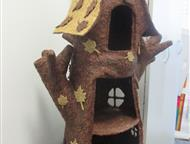 Кукольный домик Сделан из коры сосны. Возможно приделать подсветку. На заказ могу изготовить по Вашим шаблонам, конфигурациям и размерам., Красноярск - Детские игрушки